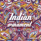 Concetto astratto dell'illustrazione del fondo dell'ornamento Arte d'annata tradizionale, Islam, arabo, indiano, motivi dell'otto Immagini Stock