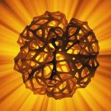 Concetto astratto della rappresentazione 3d di alta poli sfera con la struttura mulecular cellulare di griglia caotica della magl illustrazione di stock