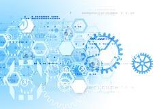 Concetto astratto di comunicazione di tecnologia del fondo illustrazione vettoriale