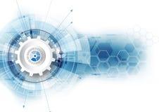 Concetto astratto di comunicazione di tecnologia digitale del fondo di vettore illustrazione vettoriale