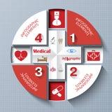 Concetto astratto di medicina con le icone mediche Fotografie Stock Libere da Diritti