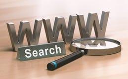 Concetto astratto di ricerca di web Fotografia Stock