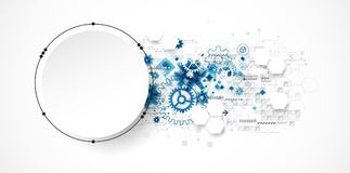 Concetto astratto di tecnologia del cerchio Circuito, alto computer Fotografia Stock Libera da Diritti