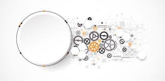 Concetto astratto di tecnologia del cerchio Circuito, alto computer Immagini Stock Libere da Diritti