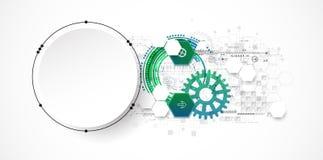 Concetto astratto di tecnologia del cerchio Circuito, alto computer Fotografia Stock