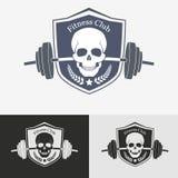 Concetto atletico di logo della palestra illustrazione di stock