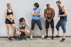 Concetto attivo di allenamento di sport della gente Fotografia Stock