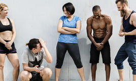 Concetto attivo di allenamento di sport della gente Immagini Stock
