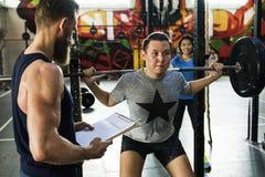 Concetto attivo di allenamento di sport della gente Immagine Stock