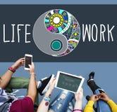 Concetto attivo di stile della natura funzionale dell'equilibrio del lavoro di vita Fotografia Stock