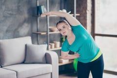 Concetto attivo sano della gente di stile di vita di sport Charmi sveglio grasso Fotografie Stock Libere da Diritti