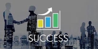 Concetto aumentante dell'istogramma di successo illustrazione vettoriale