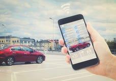 Concetto automatico di parcheggio immagini stock libere da diritti