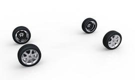 Concetto automobilistico delle ruote dell'AR illustrazione vettoriale
