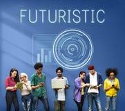 Concetto avanzato futuristico dell'innovazione di Digital di tecnologia Fotografia Stock