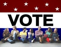 Concetto avveduto di voto di democrazia di decisione di elezione di voto Fotografia Stock Libera da Diritti