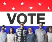 Concetto avveduto di voto di democrazia di decisione di elezione di voto immagine stock