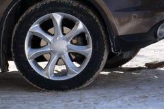 Concetto bianco degli accessori delle ruote di automobile della ruota di MAG, fotografia stock libera da diritti