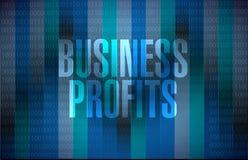 Concetto binario del segno di profitti di affari Fotografie Stock Libere da Diritti