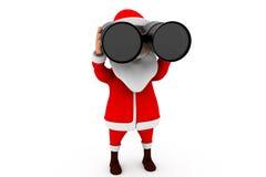 concetto binoculare di 3d Santa Fotografia Stock Libera da Diritti