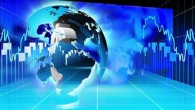 Concetto blu di affari e di finanza internazionale illustrazione vettoriale
