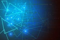 concetto blu di tecnologia dell'estratto del fondo Immagine Stock Libera da Diritti