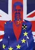 Concetto Brexit Regno Unito e composizione nelle bandiere di UE Immagini Stock Libere da Diritti