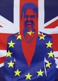 Concetto Brexit Regno Unito e composizione nelle bandiere di UE Immagini Stock