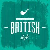 Concetto britannico d'annata di logo di stile isolato Immagine Stock