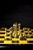 Concetto, capo & successo di affari di scacchi Fotografie Stock