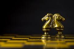 Concetto, capo & successo di affari di scacchi Immagine Stock Libera da Diritti