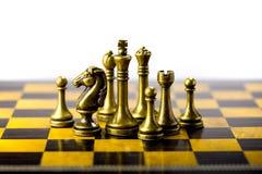 Concetto, capo & successo di affari di scacchi Immagini Stock Libere da Diritti