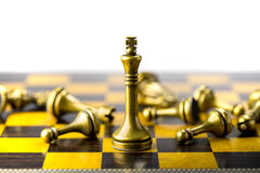 Concetto, capo & successo di affari di scacchi Immagine Stock