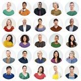 Concetto casuale di diversa variazione etnica della gente multi Fotografia Stock