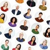 Concetto casuale di diversa variazione etnica della gente multi Fotografia Stock Libera da Diritti