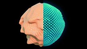 concetto cellulare astratto di ricerca 4K Vibrazione di fantascienza illustrazione di stock