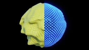 concetto cellulare astratto di ricerca 4K Vibrazione di fantascienza illustrazione vettoriale