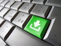 Concetto chiave di web di download Fotografia Stock Libera da Diritti