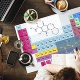 Concetto chimico di Mendeleev di chimica della Tabella periodica Fotografia Stock