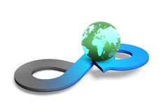 Concetto circolare di economia, rappresentazione 3D Immagini Stock Libere da Diritti