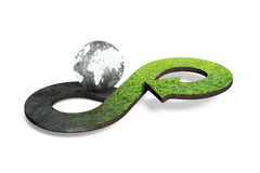 Concetto circolare di economia, rappresentazione 3D Fotografia Stock
