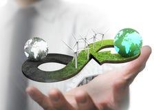 Concetto circolare verde di economia Immagine Stock