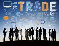 Concetto commerciale commerciale di scambio di scambio di affare di commercio fotografia stock libera da diritti