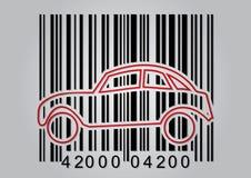 Concetto commerciale con il codice a barre Fotografie Stock Libere da Diritti