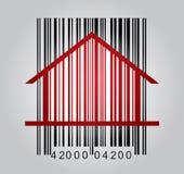 Concetto commerciale con il codice a barre Fotografie Stock