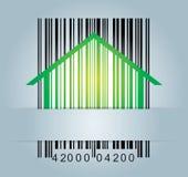 Concetto commerciale con il codice a barre Immagini Stock Libere da Diritti