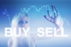 Concetto commerciale dei forex Immagini Stock