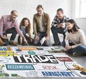 Concetto commerciale di crescita di scambio di economia di affare di commercio immagine stock libera da diritti