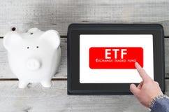 Concetto commerciale di ETF Fotografie Stock