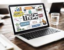 Concetto commerciale di finanza di scambio di economia dell'esportazione fotografie stock libere da diritti